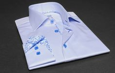 #Sky #Blue #Shirt #Floral #Patterns #Lining (Double Twisted)  $86.90 #frenchflair #mensfashion