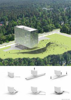Hotel Liesma Proposal / Nobutaka Ashihara Architect Sustainable Architecture, Amazing Architecture, Architecture Design, Concept Architecture, Planer Layout, Lee Hyun, Cad Blocks, Hotel Concept, Famous Architects