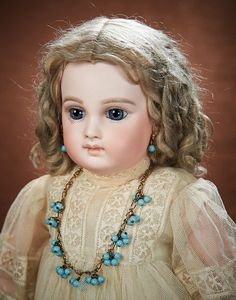 At Play in a Field of Dolls (Part 1 of 2-Vol set): 53 Early Model French Bisque Premiere Bebe by Emile Jumeau with Very Beautiful Face