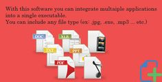 Building Files - Bind file pack . With this software you can integrate multiple applications into a single executable.You can include any file types (ex:. jpg, .exe, .mp3 … etc.)This software can be very useful, it can add many other applications that you want installed simultaneously.You can generate a photo album or a music