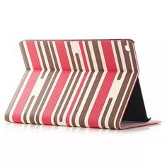 Modische Lederhülle im Streifen Stil für iPad Air 2 - spitzekarte.com