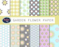 80% de descuento en venta de papel Floral Digital. por eeZZeeDesign