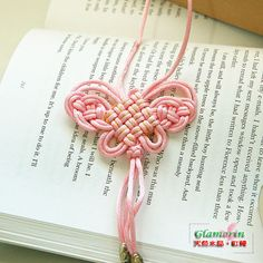 Good Luck Chinese PanChang Knot Butterfly Necklace by GlamorIn, $35.00