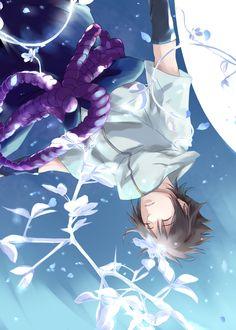 Pixiv Id 3868272, NARUTO, Uchiha Sasuke, Blue Pants, Upside Down