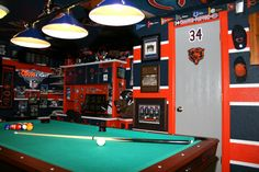 Basement Man Cave | The Chicago Bear's cave, This is my Chicago Bears basement/man cave ...