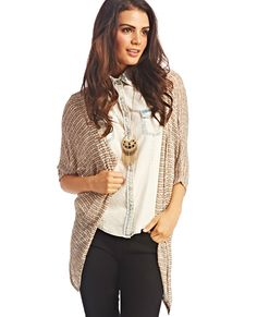 Two-Tone Knit Wrap | Wet Seal