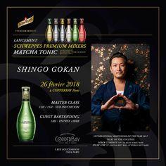Paris Food & Drink Events:  Lancement Schweppes Premium Mixer Matcha TONIC