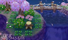 Tu auras besoin de: _oeillet rose _trèfle à 4 feuilles _d'arbre normal _d'alazée rose _d'une souche d'arbre _du pond suspendu _et d'être à cote de la rivière.