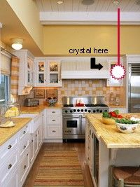 Feng Shui Kitchen Cures and Directions Kitchen Cures, Kitchen Inspirations, Yellow Kitchen, Feng Shui Kitchen, Kitchen Room, Wood Kitchen, Home Kitchens, Kitchen Cabinet Colors, Natural Wood Kitchen Cabinets