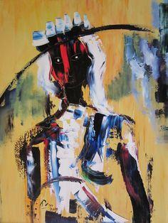 "Saatchi Art Artist Oscar Posada; Painting, ""Ella con pamela"" #art"