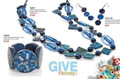 Leisure Collection - INTO THE BLUE Matching Earrings with Necklace / Bracelet,