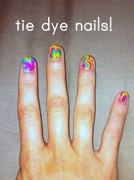 nail art: tie dye nails - crafts ideas - crafts for kids