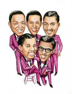 The Temptations  Original Published Artwork For Motown Records.  For sale by Tokyomodern on Etsy.com.