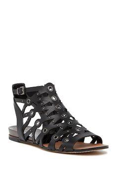 Asuka Studded Leather Gladiator Sandal Leather Gladiator Sandals, Studded Leather, Vince Camuto, Nordstrom Rack, Open Toe, Zip, Heels, Boots, Women