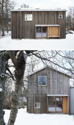19 Examples Of Modern Scandinavian House Designs This multilevel extension is covered in various types of wood siding for a natural look thats both modern and cozy Scandinavian House, Scandinavian Architecture, Swedish House, Scandinavian Design, Architecture Design, Skandinavisch Modern, Modern Barn, Modern Small House Design, Modern Design