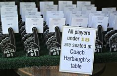 football themed bar mitzvah place cards 2