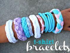 A girl and a glue gun: t-shirt bracelet...{kid craft monday}