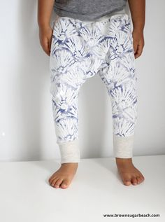 Kids Summer Sarouels harem pants 6m6y blue shell by BsugarB, $24.00