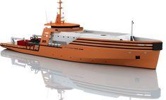 MRV 80 – 80m Multipurpose Vessel for offshore windpark maintenance designed by CMN of Cherbourg, France