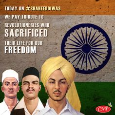 Tributes to Shaheed Bhagat Singh, Sukhdev and Rajguru on their Martyrdom Day. Supreme sacrifice made by them for the freedom of our Nation will remain etched forever in our memories. Indian Flag Wallpaper, Diwali Wallpaper, Bhagat Singh Wallpapers, Freedom Fighters Of India, Wow Facts, Gernal Knowledge, Organic Herbs, Indian Army, Groom Style