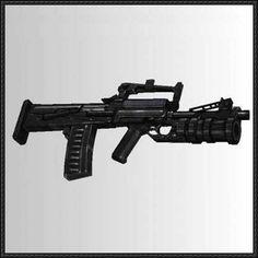 OTs-14 Groza Assault Rifle Free Paper Model Download - http://www.papercraftsquare.com/ots-14-groza-assault-rifle-free-paper-model-download.html