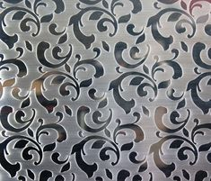 Laser Cut Metal Sheet - Flock Pattern