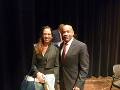 With Assembly Speaker Carl Heastie at New Rochelle High School.