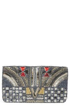 Berry 'Maltese' Beaded Clutch available at #Nordstrom