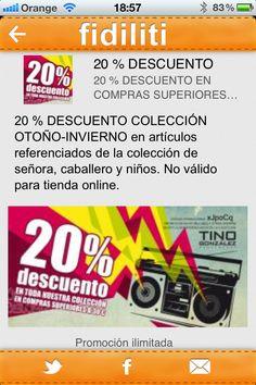 20% de descuento en la Tino González con fidiliti