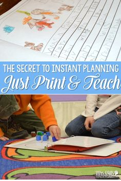 Lesson Planning Secrets Made Easy.  Writers Workshop, Math Workshop, Guided Reading, and Reading Comprehensions Lessons for Kindergarten and First Grade.  Just Print and TEACH! via @deedee_wills