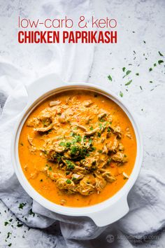 Easy Low-Carb Chicken Paprikash Stew (keto, primal, grain-free)