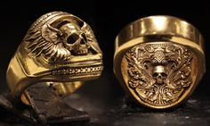 The Revenant Skullring (14kt Gold) By: www.BookofAlchemy.com
