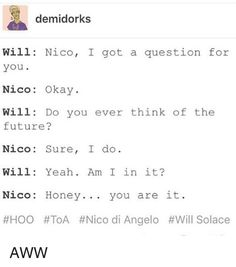 Image result for nico di angelo x will solace