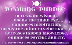 Purple - Wearing Purple By m: La Hermosa Bruja