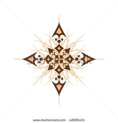 Vector illustration of abstract compass rose isolated on white - stock ... this rendition of a compass star is beautiful, not sure if you could get something this intricate inlaid into a floor, maybe stenciled...it's very pretty...