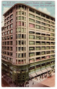 It is pretty awesome that SAIC's AIADO department is on the top floor of one of Sullivan's best creations! Carson Pirie Scott Co., Chicago, 1910