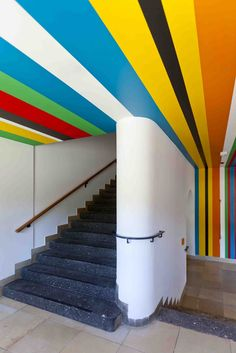 funky painted ceiling - climbing from wall