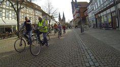 Fahrraddemo für mehr Sicherheit für Radfahrer in der Stadt Duderstadt