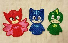 PJ Mask Inspired  Set of Three Pajama Hero Finger Puppets