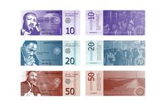 Graphic Design Class Assignment Inspiration: Nobel Prize Currency by Danielle Hack, via Behance