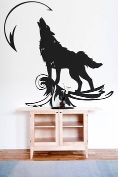 """Howling Wolf at the Moon - Wall decals for magical minds 