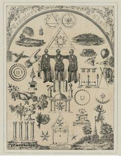 Knights Templar Chart Print York Rite Masonic Symbols Art Mason New Poster 1856 | eBay