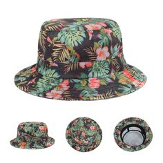 471daee41384 Find More Bucket Hats Information about 2015 Summer Hot Sale Leaves Floral  Bucket Hat Bird s eye