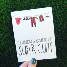 Cute Baby Shower Card – Lumberjack Baby Card – Card for Baby Shower – funny baby card – congratulations pregnancy card – plaid baby card - Everythink for Babyshower Baby Shower Card Sayings, Baby Shower Cards, Baby Shower Gifts, Baby Shower Quotes, Baby Boy Cards, New Baby Cards, New Born Baby Card, Funny Greetings, Funny Greeting Cards