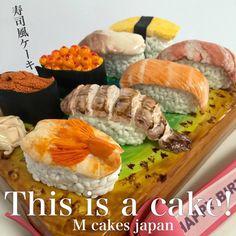 お寿司!!風なケーキ✨✨✨ エビにシャコ、サーモンに中トロ、 ウニにいくら、ホッキ貝に玉子 寿司ケーキお寿司も一つづつケーキでお皿もケーキ 甘〜い寿司 #寿司 #寿司ケーキ #和食 #なんちゃって #面白 #ケーキ ##誕生日ケーキ #シュガーアート #japan #foodcake #fondantcake #sculptedcake #cake #sushi