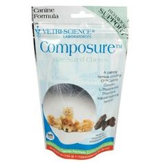 Composure for Medium and Large Dogs, 60 Soft Chews Vet Recommended  these to help with aniety during storms, fireworks, etc.