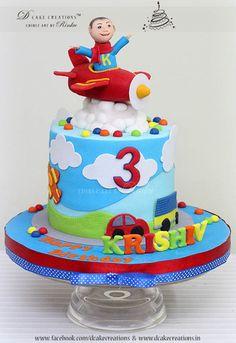 Toy Vehicle Birthday Cake