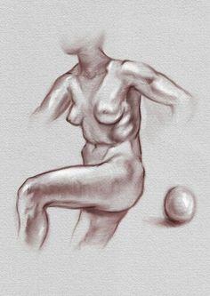 Digital chalk figure in Sketcbook Mobile.