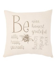 Loving this 'Be Nice' Square Pillow on #zulily! #zulilyfinds