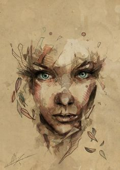 """Crystal"", Portrait Illustration by Mario Alba Illustration from Spain. @Mario_Alba_  www.mario-alba.deviantart.com"